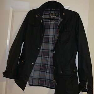 Barbour Waxed Cotton Jacket | Black | Size 6